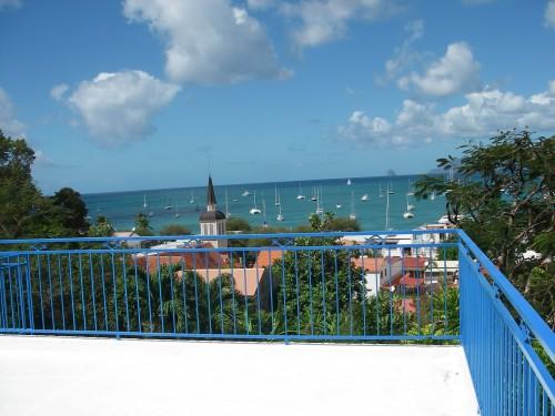 Vue sur la mer des caraîbes depuis la villa
