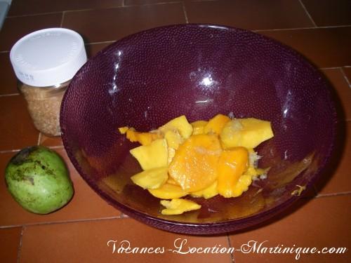 Recette du jus de mangue maison de Martinique